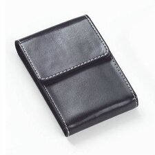 Bridle Flip Top Business Card Holder in Black