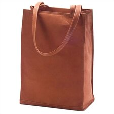 Vachetta Lunch Box Style Tote in Tan