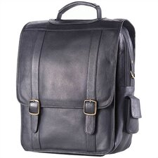<strong>Clava Leather</strong> Colored Vachetta Porthole Vertical Leather Laptop Briefcase