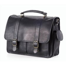 <strong>Clava Leather</strong> Vachetta Leather Laptop Briefcase