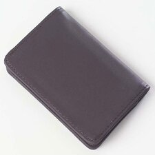 <strong>Clava Leather</strong> Quinley Card Holder Wallet in Café