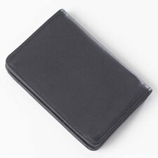 <strong>Clava Leather</strong> Quinley Card Holder Wallet in Black