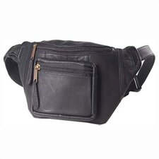 Vachetta Kangaroo Pouch Hip Pack in Black