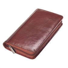 Glazed Leather Passport Travel Wallet