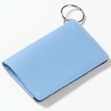 Colored Leather ID/ Key Chain Wallet