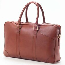 Bridle Slim Top Handle Leather Laptop Briefcase