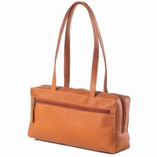 Leather Rectangular Zip Shopper