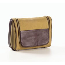 <strong>Clava Leather</strong> Canvas and Leather Hanging Toiletry Kit