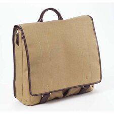 Canvas and Leather Mail Bag in Khaki