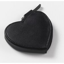 Heart Coin Purse in Black