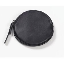 Round Coin Purse in Black