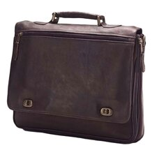 <strong>Clava Leather</strong> Colored Vachetta Turn Leather Laptop Briefcase