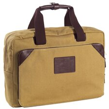 <strong>Clava Leather</strong> Canvas Laptop Briefcase
