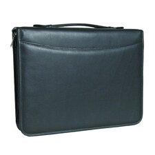 3-Ring Binder Top Handle Padfolio in Tuscan Black
