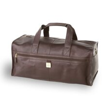 "12.5"" Leather Large Square Duffel"