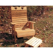 <strong>Creekvine Designs</strong> Cedar Furniture and Accessories Country Hearts Patio Adirondack Chair