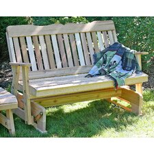 <strong>Creekvine Designs</strong> Cedar Countryside Wood Garden Bench