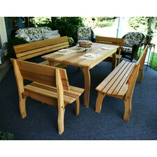 Cedar Chickadee 5 Piece Dining Set