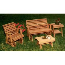 <strong>Creekvine Designs</strong> Cedar Rocking Classic Gliders and Tables Set