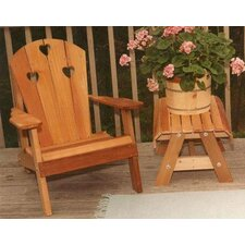 <strong>Creekvine Designs</strong> Cedar Country Hearts Adirondack Chair