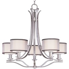 <strong>Taniya Nayak</strong> Banded 5 Light Chandelier