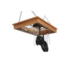 <strong>Laurel Highlands Woodshop</strong> Hanging Pot Rack with Lights
