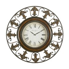 Toscana Metal Flower Wall Clock