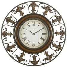 "Toscana Oversized 38"" Flower Wall Clock"