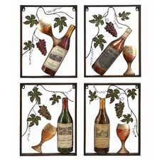 <strong>UMA Enterprises</strong> Toscana Wine 4 Piece Wall Décor Set