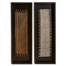 <strong>UMA Enterprises</strong> Toscana Assorted Rectangular Frames 2 Piece Wall Décor Set