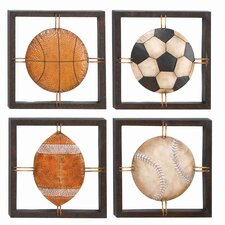 Cosmopolitian Ball Lovers Wall Plaque (Set of 4)