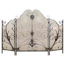 Metro 3 Panel Metal Fireplace Screen
