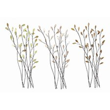 Cosmopolitian Twig Metal Wall Décor (Set of 3)