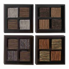 Toscana Multi-Color Wood Framed Wall Décor (Set of 4)