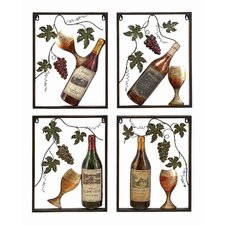 Toscana Metal Wine Décor (Set of 4)