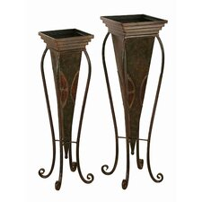 Toscana Metal Planters  (Set of 2)