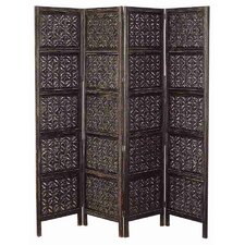 Rustic 4 Panel Wood Screen