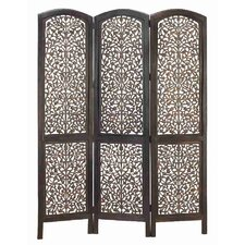 "74"" x 54"" Rustic Screen 3 Panel Room Divider"