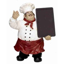 Urban Trends Polystone Chef Chalk Board Statue