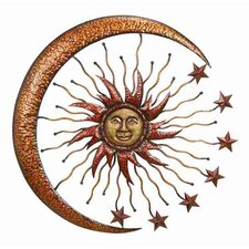 Urban Trends Metal Sun Moon Wall Décor