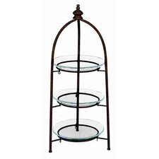 Urban Trends Metal Glass 3 Tier Storage Stand