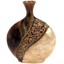 Loft Pot-Shaped Ceramic/Capiz Shell Vase