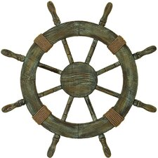 Urban Trends Nautical Ship Wheel Wall Décor