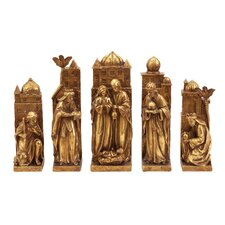 <strong>UMA Enterprises</strong> 5 Piece Christmas Nativity Figurine Set