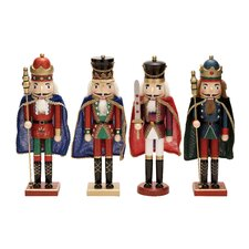 4 Piece Wood Nutcracker Set