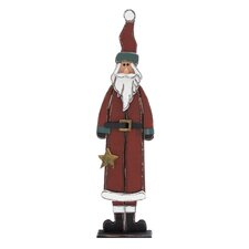 Handcrafted Wood Santa Figurine
