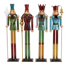 4 Piece Nutcracker Figurine Set