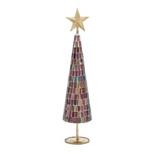 Christmas Tree with Mosaic Mirrors and Star