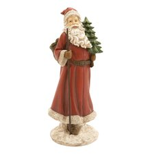 Santa Figurine with Christmas Tree