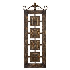 Toscana Metal Wall Home Plaque